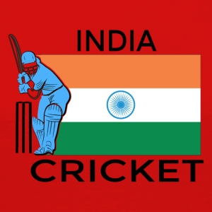 Indien Cricket Player Flag - Långärmad premium-T-shirt dam