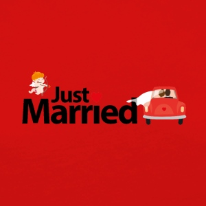 Just Married - Dame premium T-shirt med lange ærmer