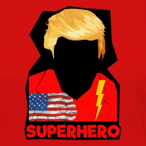 Super Donald / Orange Trump Tear-rivning - Dame premium T-shirt med lange ærmer