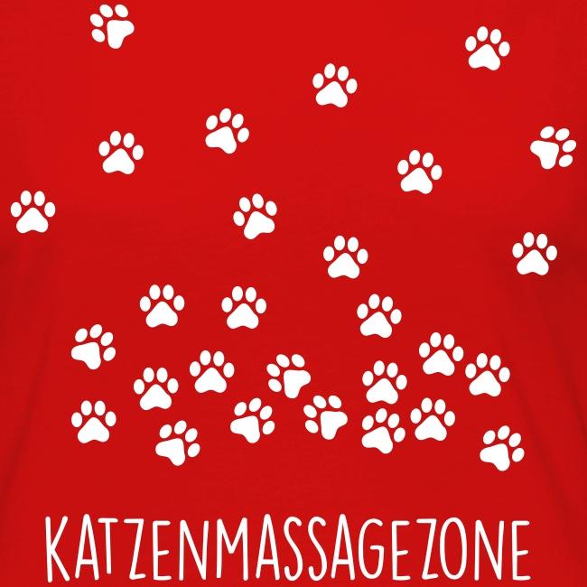 Vorschau: Katzen Massage Zone - Frauen Premium Langarmshirt