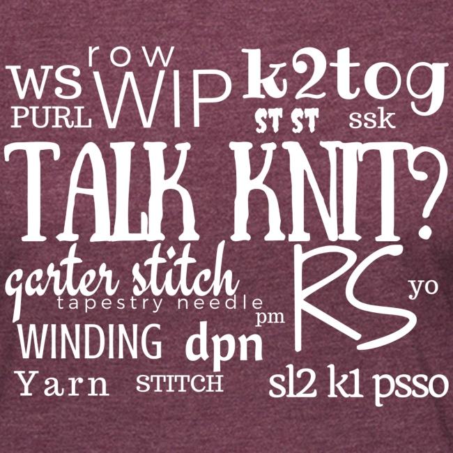 Talk Knit ?, white