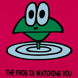 the frog is watching you - Frauen Premium Langarmshirt
