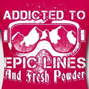 Addicted to skiing - Women's Premium Longsleeve Shirt