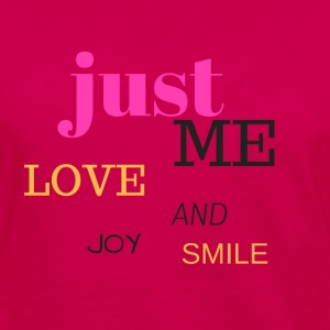 JUST ME, LOVE, JOY AND SMILE - Camiseta de manga larga premium mujer