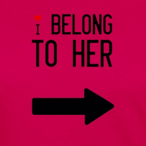 I belong to her - Women's Premium Longsleeve Shirt
