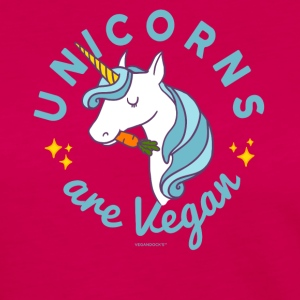 Unicorn T-shirt - Unicorns er Vegan (Blue Magic) - Dame premium T-shirt med lange ærmer