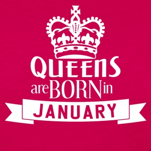QUEENS BORN JANUARY - Women's Premium Longsleeve Shirt