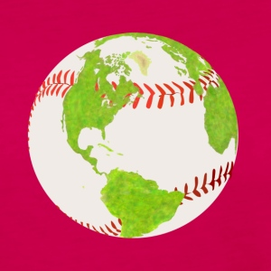 baseball verden jord planet earth verden - Premium langermet T-skjorte for kvinner