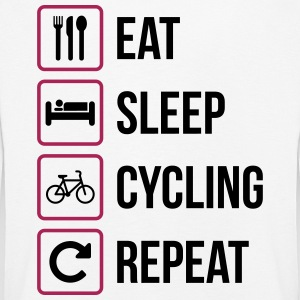 Eat Sleep Cycling Repeat - Kids' Premium Longsleeve Shirt