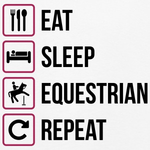 Eat Sleep Gjenta Equestrian - Premium langermet T-skjorte for barn
