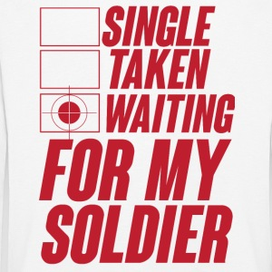 Military / Soldiers: Single, Taken, Waiting for my - Kids' Premium Longsleeve Shirt