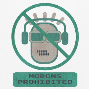 Blue moron prohibited - Kids' Premium Longsleeve Shirt