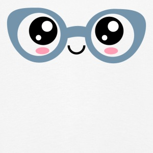 Kawaii, eyes, glasses, anime, manga, comic, comics - Kids' Premium Longsleeve Shirt