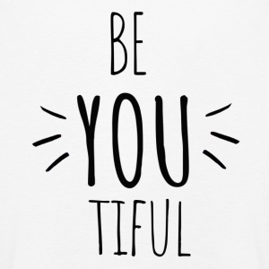 Be you tiful - Inspiring- Original black letters - Kinder Premium Langarmshirt