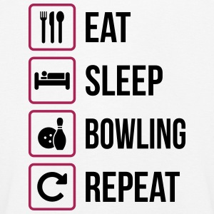 Eat Sleep Bowling Repeat - Kinder Premium Langarmshirt