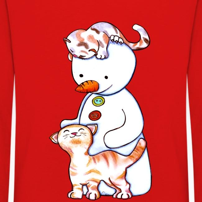Deux petits chats et Jou le bonhomme de neige