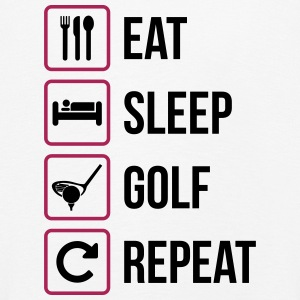 Eat Sleep Golf Repeat - Kinder Premium Langarmshirt