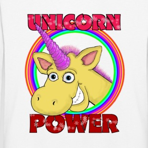 Unicorn-Power - Kinder Premium Langarmshirt
