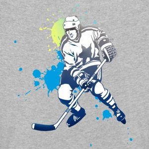hockey splatter hockey spiller puck angrep kult - Premium langermet T-skjorte for barn