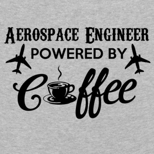 AEROSPACE ENGINEER POWERED BY KAFFE - Børne premium T-shirt med lange ærmer