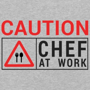 Chef / Chef Cook: Caution - Chef at work. - Kids' Premium Longsleeve Shirt