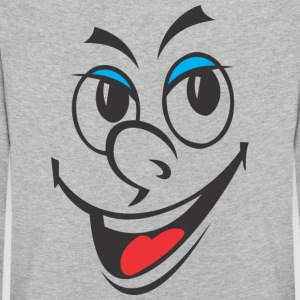 Cartoon Rire Visage - T-shirt manches longues Premium Enfant