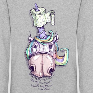Unicorn with toilet paper - Kids' Premium Longsleeve Shirt