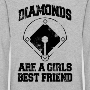 Diamonds Are A Girl's Best friend - Kids' Premium Longsleeve Shirt