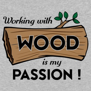 Passion-Design Wood - Kinder Premium Langarmshirt