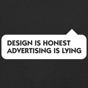 Design Is Honest. Advertising Is A Lie. - Kids' Premium Longsleeve Shirt