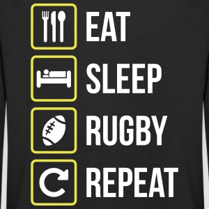 Eat Sleep Rugby Repeat - Kinder Premium Langarmshirt