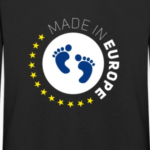 made birth foot in Europe EU Lovebaby stars EUR - Kids' Premium Longsleeve Shirt