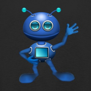 Blue Alien - Kids' Premium Longsleeve Shirt