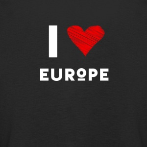 I Love Europe eu heart red love fun statement Demo - Kids' Premium Longsleeve Shirt