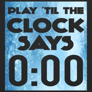 Eishockey: Play ´til the clock says 0:00 - Kinder Premium Langarmshirt