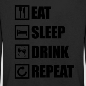 EAT SLEEP REPEAT DRINK - T-shirt manches longues Premium Enfant