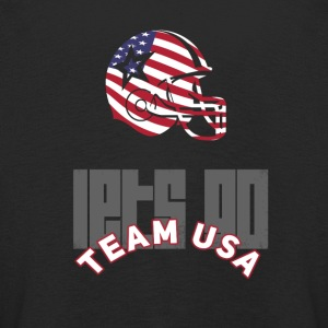 usa Football Touch down flag America Sport defenes - Kinder Premium Langarmshirt