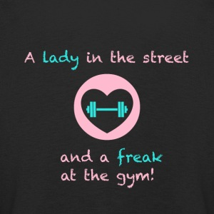 A lady in the street and a freak at the gym - Kinder Premium Langarmshirt
