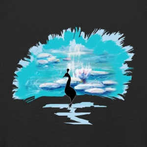 The Peacock of Monet - Kids' Premium Longsleeve Shirt