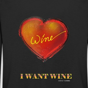 HEART I WANT WINE - Kids' Premium Longsleeve Shirt