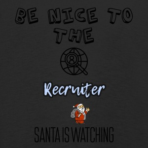 Be nice to the recruiter Santa is watching - Kids' Premium Longsleeve Shirt