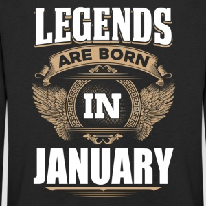Legends of January birthday - Kids' Premium Longsleeve Shirt