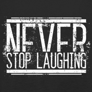 Never Stop Laughing Alt Weiss 001 AllroundDesigns - Kinder Premium Langarmshirt