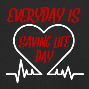 Krankenschwester: Everyday is saving life day - Kinder Premium Langarmshirt