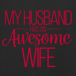 Hochzeit / Heirat: My Husband has an awesome Wife - Kinder Premium Langarmshirt