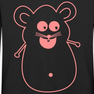 Mouse pink silhouette - Kids' Premium Longsleeve Shirt