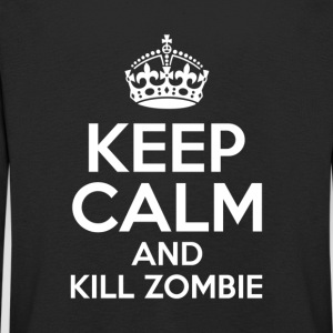KEEP CALM AND KILL ZOMBIE - Camiseta de manga larga premium niño