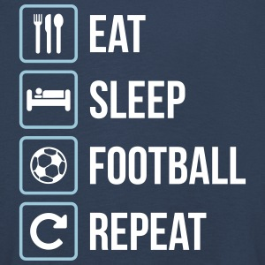Eat Sleep Football Repeat - Kinder Premium Langarmshirt