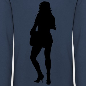 Woman body Silhouette vector design - Kids' Premium Longsleeve Shirt