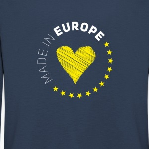 made in Europe love EU europa no brexit euro stern - Kinder Premium Langarmshirt